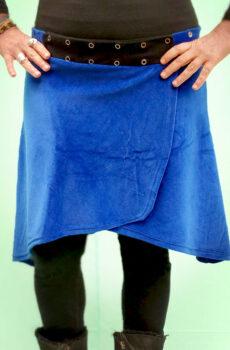 Pollera Cruzada Plush Azul